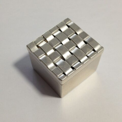 Basket Weave Sterling Silver and Fine Silver Presentation Box