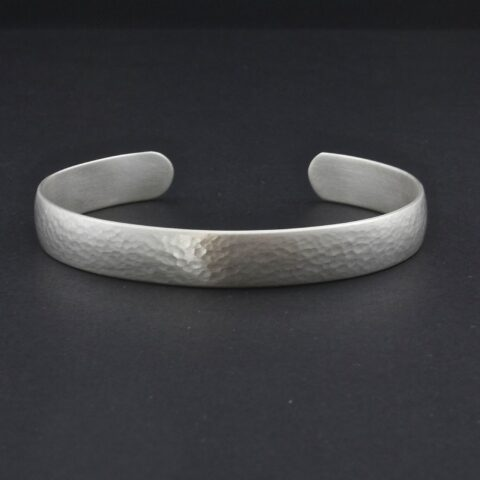 Hammered Cuff For Men Or Women In Sterling Silver