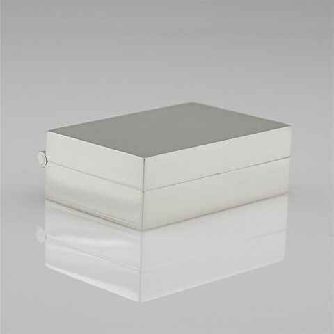 Simple Modern Sterling Silver Pill Box