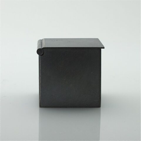 Oxidized Sterling Milk Crate Pill Box