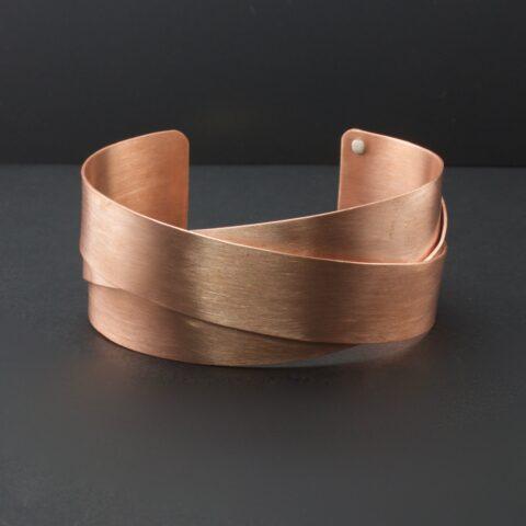 Copper Woven Cuff Bracelet