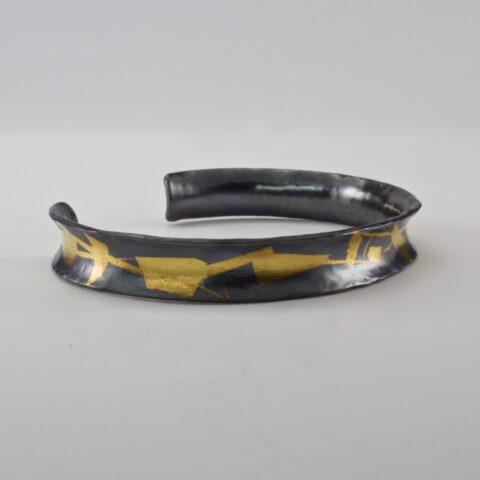 Anticlastic Oxidized Klum-Boo Cuff Bracelet